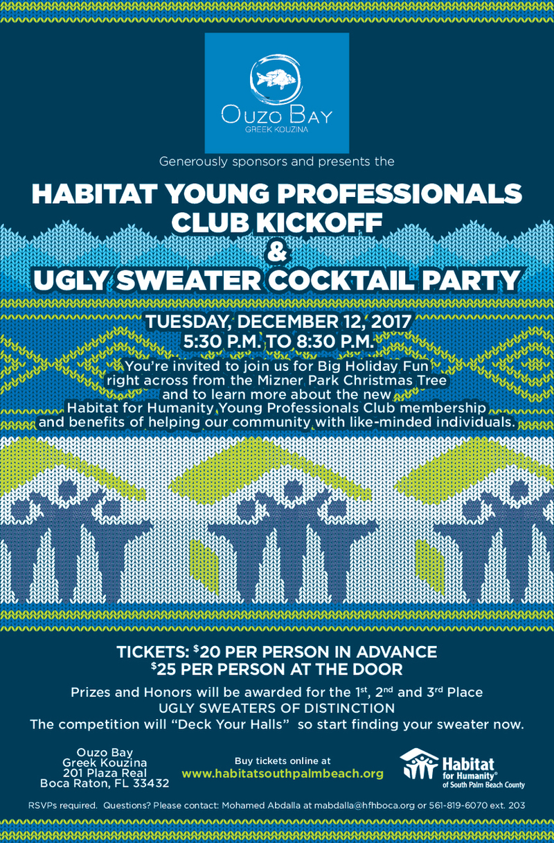 Habitat Young Professionals Club Kick Off and Ugly Sweater Party