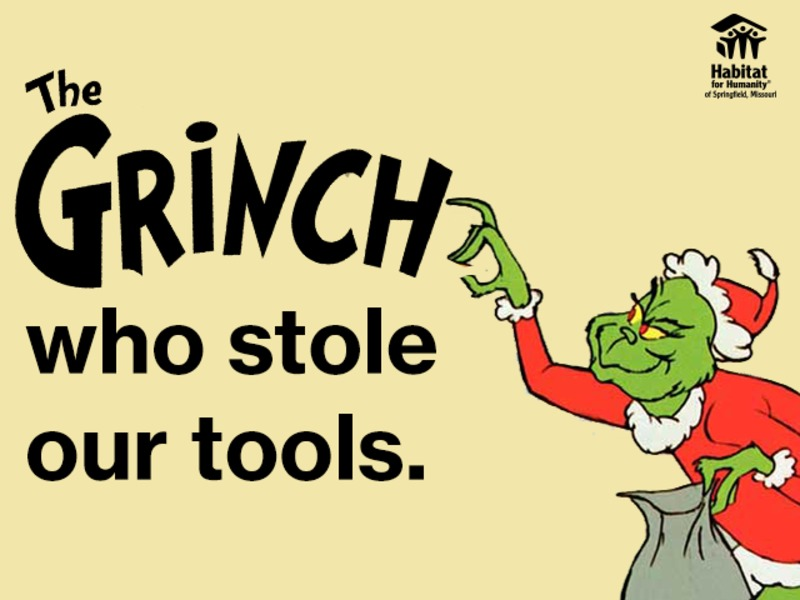 The Grinch who stole our Tools