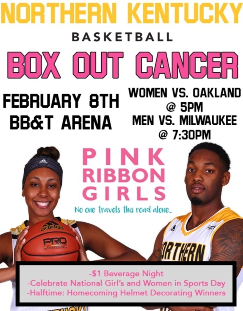NKU Basketball Box Out Cancer Night
