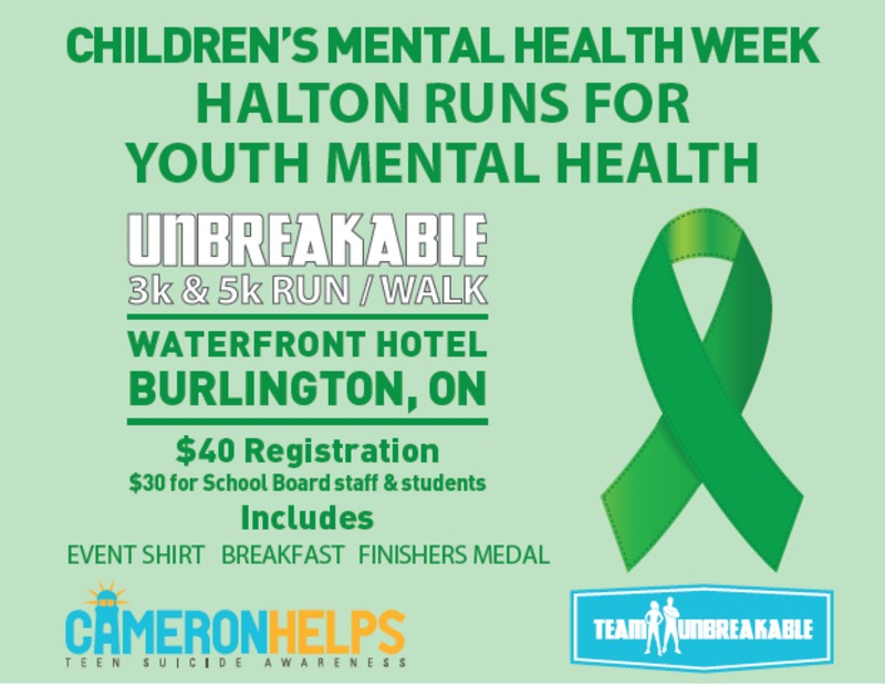 Halton Unbreakable 3k & 5K Run / Walk, May 9 2015