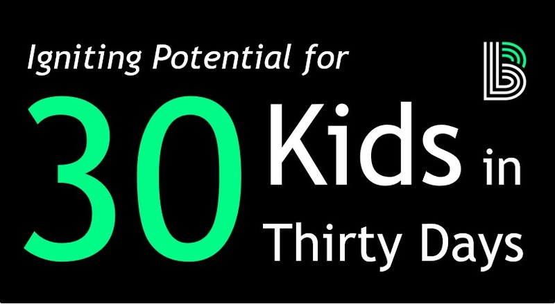 30 Kids in 30 Days Campaign 2018
