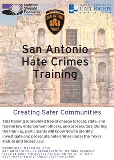San Antonio Hate Crimes Training