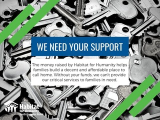 Habitat Needs Your Support!