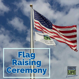 Flag Raising Ceremony - Jennings American Legion Hospital