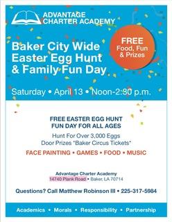 Baker City Wide Easter Egg Hunt & Family Fun Day