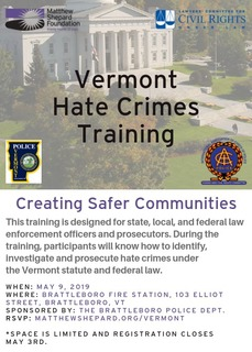 Vermont Hate Crimes Training