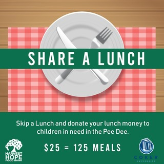 Coker College Share a Lunch Fundraiser for Harvest Hope Food Bank