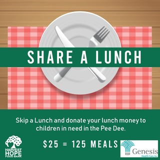 Genesis Health Care Share a Lunch Fundraiser for Harvest Hope Food Bank