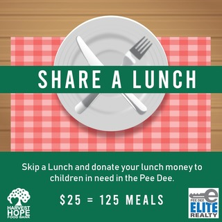 Pee Dee Elite Realty Share a Lunch Fundraiser for Harvest Hope Food Bank