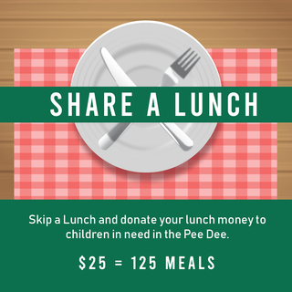 Share a Lunch Fundraiser for Harvest Hope Food Bank
