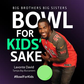 Lavonte David Bucs Bowl For Kids' Sake