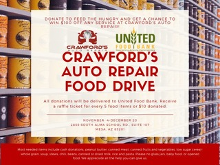 Crawford's Auto Food Drive