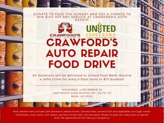 Crawford's Auto Food Drive