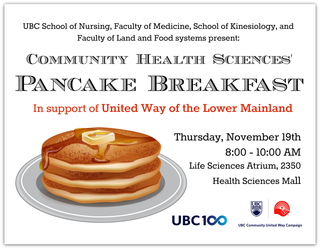 Community Health Sciences' Pancake Breakfast