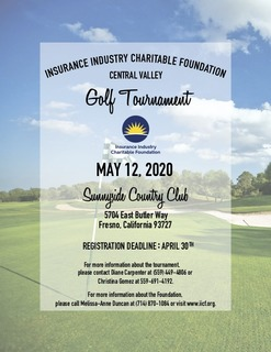 IICF Central Valley Golf Tournament 2020