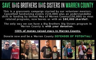 SAVE BIG BROTHERS BIG SISTERS IN WARREN COUNTY