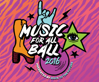 "Rock to the Future's Music for All ""GLAM ROCK"" Ball 2016"