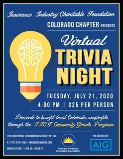 IICF Colorado Virtual Trivia Night 2020