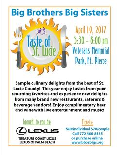 Taste of St Lucie 2017 - Vendor Signup