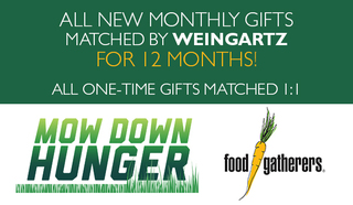 Mow Down Hunger 2020 - Your Monthly Gift Matched