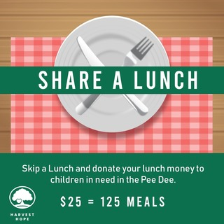 Erika Mills' Share a Lunch Fundraiser for Harvest Hope
