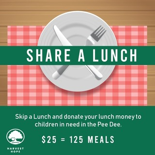 Hugh Blanton's Share a Lunch Fundraiser for Harvest Hope