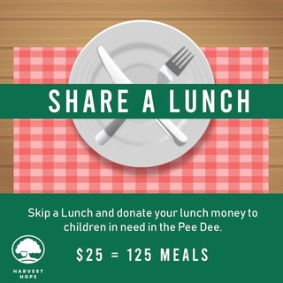 Share a Lunch Fundraiser for Harvest Hope