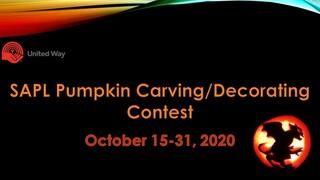 2020 UCalgary SAPL Pumpkin Contest