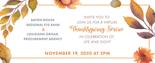 Thanksgiving Service in Celebration of Life and Sight