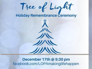 Tree of Light Holiday Remembrance Ceremony