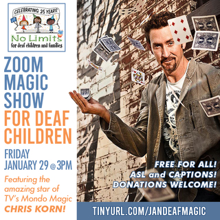 No Limits Magic Show for deaf children