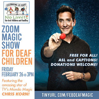 February No Limits Magic Show for deaf children