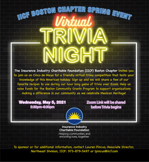 IICF Boston Chapter Virtual Trivia Event