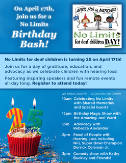 No Limits Birthday Bash RSVP!