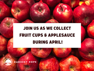 Applesauce and Fruit Cup Drive for Harvest Hope