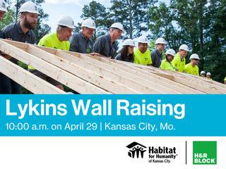 Habitat KC and H&R Block Wall Raising Event