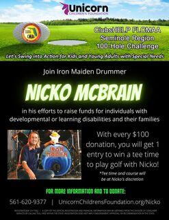 Golf with Iron Maiden's Nicko McBrain