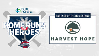 Harvest Hope Homeruns for Heroes Night at the Greenville Drive
