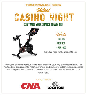 IICF Virtual Casino Night Peloton Raffle