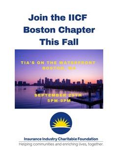 IICF Boston Chapter Fall Event 2021