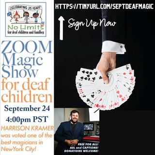 No Limits Magic Show for deaf children-September 24