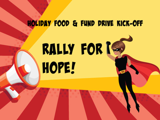 Holiday Food & Fund Drive Kick-Off Rally