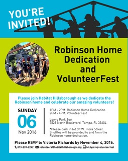 Robinson Home Dedication & VolunteerFest