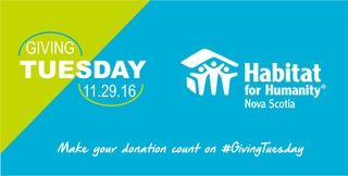 #GivingTuesday 2016 for Habitat NS