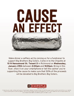 Chipotle 50% Give Back Night