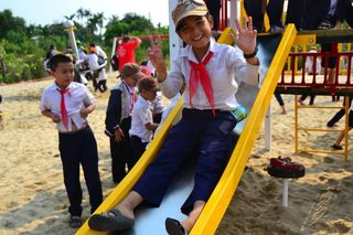 Mobile Park and Library in Vietnam