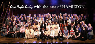 One Night Only benefit cabaret with cast of HAMILTON