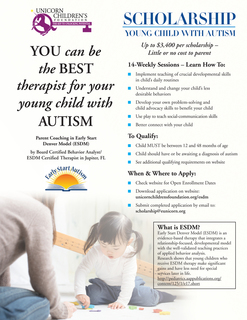 Early Start Denver Model (ESDM) Autism Parent Coaching Scholarship