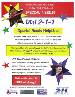 211 Special Needs Helpline