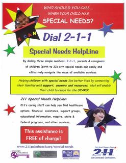 211 Special Needs Helpline